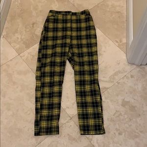 SEEK The Label yellow plaid pants from LF